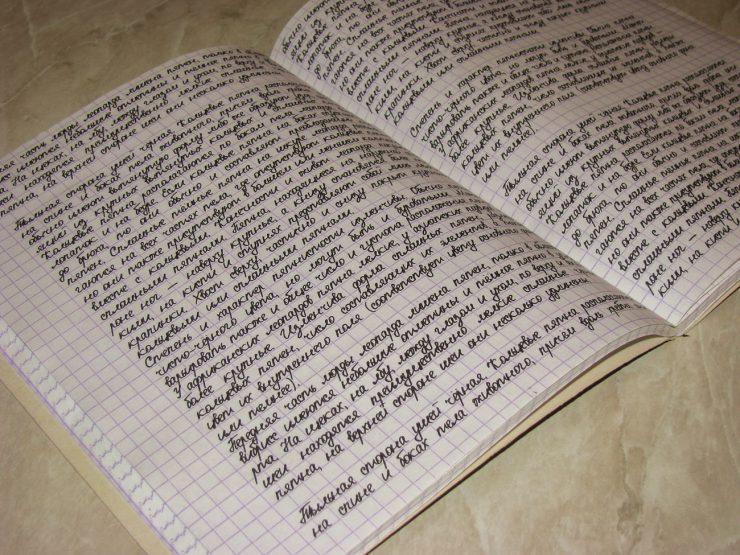 лекция распечатанная на тетрадных листах пример