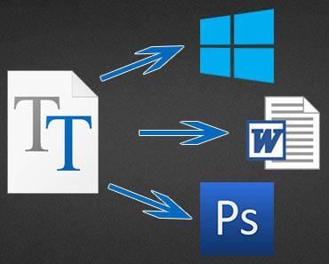 Как установить шрифт в windows, фотошоп, офис, ворд